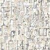 "Tres Tintas Barcelona 9 Selvas De Mariscal Lletres 33' x 21"" Wallpaper"