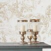 Tres Tintas Barcelona Heritage Eclipse Flock 33' x 21'' Paisley Wallpaper