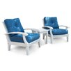 Douglas Nance Cayman White Club 2 Piece Deep Seating Group with Cushions