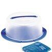"Rotho 38 cm Tortenglocke ""Cool & Fresh"" in Transluzent / Blau"