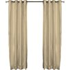 Brielle Fortune Faux Dupioni Silk Lined Single Curtain Panel