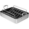 "Chef's Design 16"" Polished Aluminum French Roaster with Rack"