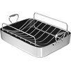 "Chef's Design 18"" Polished Aluminum French Roaster with Rack"