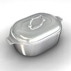 """Chef's Design Gourmet 16.5"""" Heavy Cast Aluminum Covered Oval Roaster with Non-Stick Interior"""