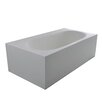 "dCOR design True Solid Surface Zenith 70.88"" x 36.63"" Soaking Bathtub"