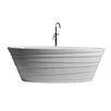 "dCOR design True Solid Surface Wave 70.88"" x 33.5"" Soaking Bathtub"