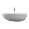 "dCOR design True Solid Surface Pebble 70.88"" x 35.5"" Soaking Bathtub"