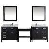 """dCOR design 102"""" Double Bathroom Vanity Set with Mirror"""