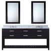 """dCOR design 72"""" Double Bathroom Vanity Set with 2 Mirror"""