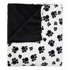 Sweet Home Collection Dalmation Paw Print Plush Faux Fur Throw Blanket