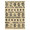 Mercury Row Moroccan Mekenes Ivory/Black Area Rug