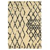 Mercury Row Moroccan Ivory & Black Shag Area Rug
