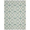 Mercury Row Lyra Ivory & Blue Area Rug
