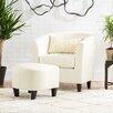 Mercury Row Retro Club Chair and Ottoman Set