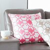 Mercury Row Throw Pillow in Pink