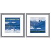 Mercury Row Abstract Ocean Landscape 2-Piece Wall Art