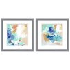 Mercury Row Abstract Swirl 2 Piece Framed Graphic Art Set