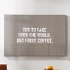Mercury Row Hayward 'Coffee Brown' Textual Art on Canvas