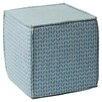 Mercury Row Chevron Pouf Square Ottoman