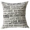Mercury Row Aphrodisia Laugh Often Feathered Throw Pillow