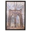 Mercury Row Brooklyn Bridge Framed Graphic Art