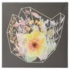Mercury Row Words to Grow By Flowering Polygon by 5by5collective Painting Print on Wrapped Canvas