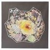 Mercury Row Words to Grow By Flowering Geometrics by 5by5collective Painting Print on Wrapped Canvas
