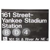 Mercury Row Yankee Stadium Night Textual Art on Wrapped Canvas
