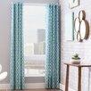Mercury Row Double Drape Curtain Panel in Teal