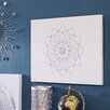 Mercury Row Chalk Sketch Squares Graphic Art on Canvas