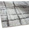 Mercury Row Chalkboard Checkers Gray Area Rug