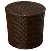 Mercury Row Wicker Barrel Side Table