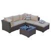 Mercury Row Fennia 5 Piece Seating Group with Cushion