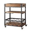 Mercury Row Aletha Kitchen Cart with Wooden Top