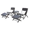 Mercury Row Lachesis 5 Piece Seating Group with Back Pillows