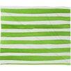 Mercury Row Thekla Spruce Stripes Plush Fleece Throw Blanket