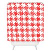 Mercury Row Helen Candy Houndstooth Shower Curtain