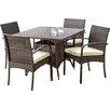 Mercury Row Abson 5 Piece Dining Set with Cushions