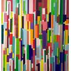 Mercury Row Colorful Geometric Painting Print on Wrapped Canvas
