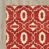Mercury Row Capricorn Hand-Tufted Red/Ivory Area Rug