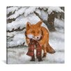 Mercury Row Winter Fox Graphic Art on Wrapped Canvas