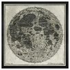 Mercury Row Moon Craters Framed Graphic Art
