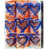 Mercury Row Nymphodora Heart Azul Painting Print on Wrapped Canvas