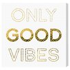Mercury Row Good Vibes Textual Art on Wrapped Canvas