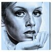 Mercury Row Girl with Long Eyelashes Painting Print on Wrapped Canvas