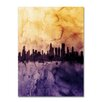 Mercury Row Chicago Illinois Skyline Tall Graphic Art on Wrapped Canvas