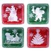 Mercury Row Chalkboard Christmas Canape Plate (Set of 4)