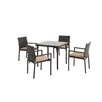Mercury Row Basinger 5 Piece Dining Set with Cushions