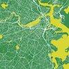 Mercury Row Boston Urban Roadway Map Graphic Art on Wrapped Canvas
