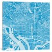 Mercury Row Washington D.C. Urban Roadway Map Graphic Art on Wrapped Canvas